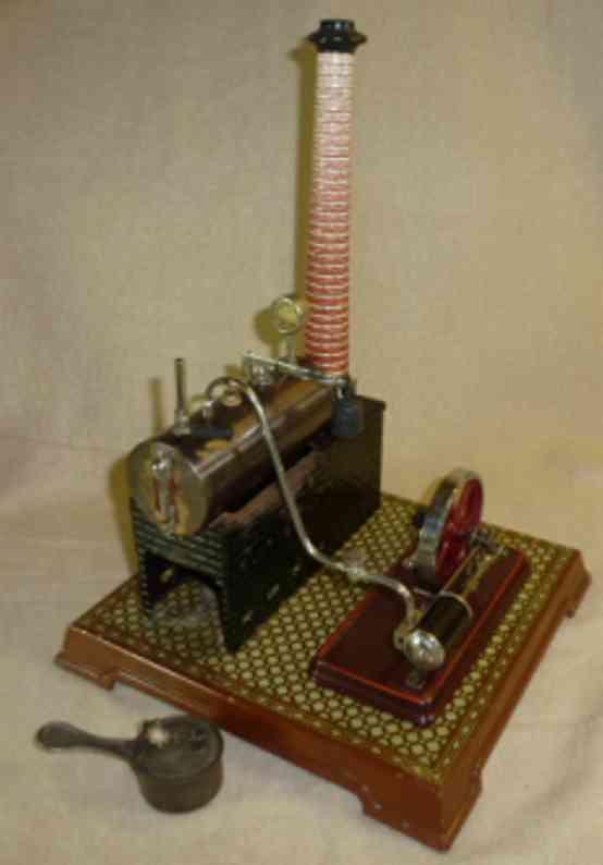 bing dampfspielzeug liegende dampfmaschine dampfmaschine lithografiert