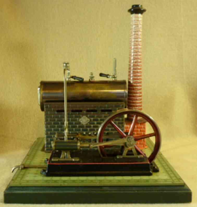 bing dampfspielzeug liegende dampfmaschine liegende dampfmaschine lithografiert mit zwillingszylinder a