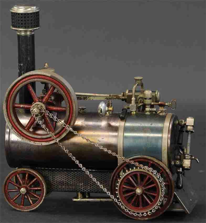 bing dampfspielzeug fahrbare lokomobile spiritusdampflokomotive