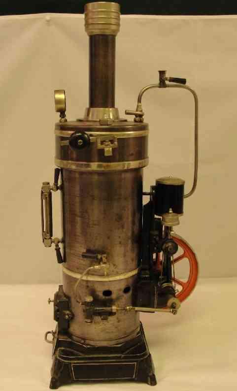 bing dampfspielzeug stehende dampfmaschine dampfmaschine, die größte aus dieser reihe, mit brenner, kam