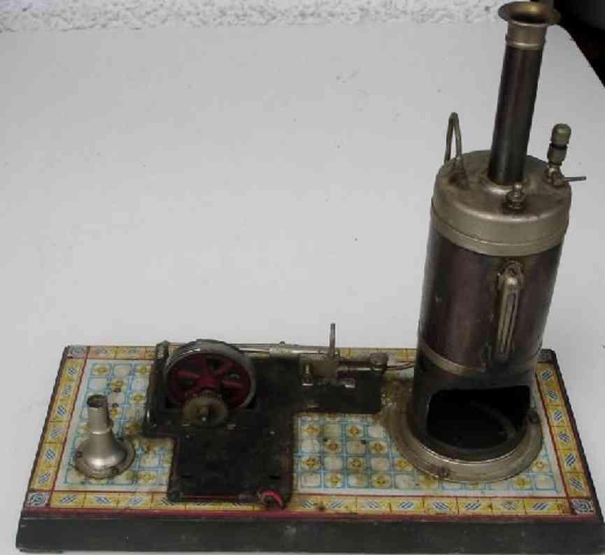 bing dampfspielzeug stehende dampfmaschine dampfmaschine, der elektrogenerator und die originalglühlamp