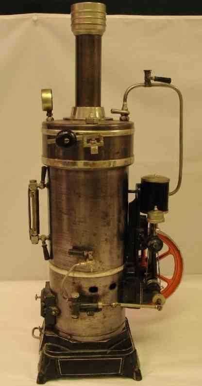 bing dampfspielzeug stehende dampfmaschine vulcan die größte von bing produzierte senkrecht stehende dm
