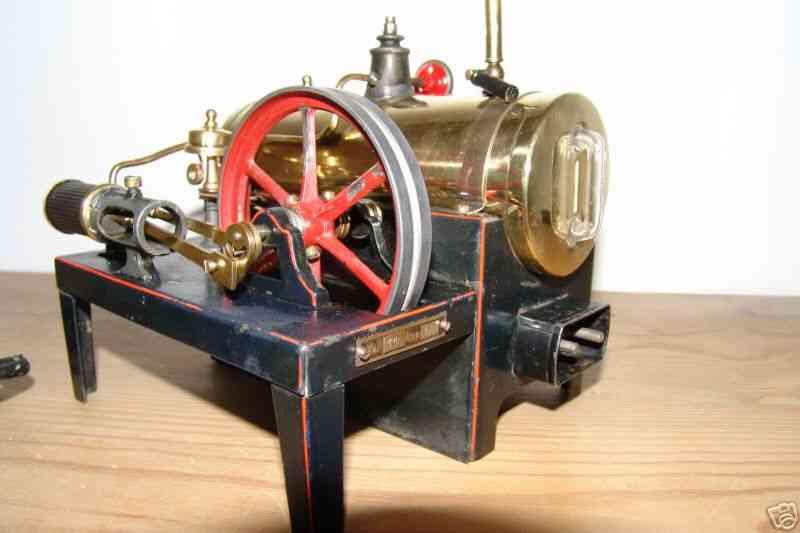 bing dampfspielzeug liegende dampfmaschine elektrische dampfmaschine, 110 volt 1,8 ampere