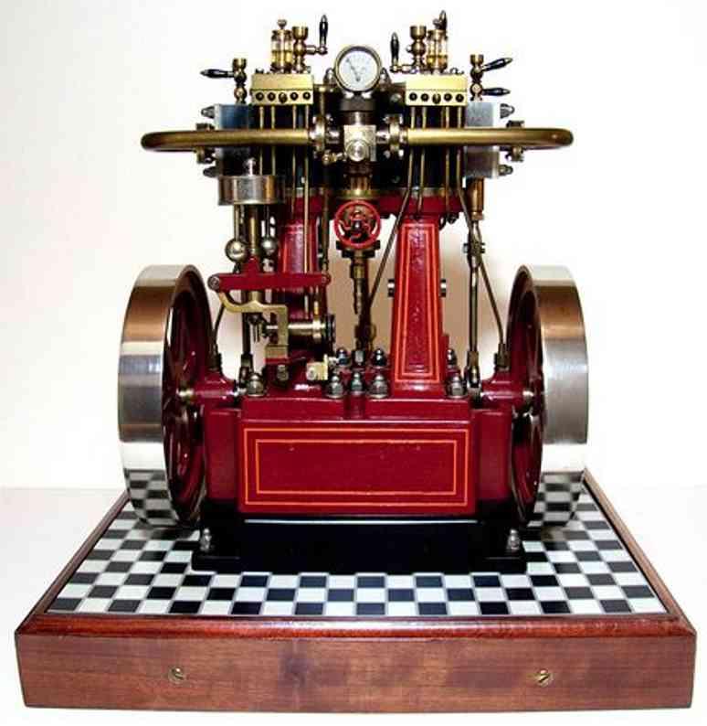bischoff wilhelm 262 Zw dampfspielzeug stehende dampfmaschine zwillingsdampfmaschine mit kessel, widerstand, generator, ko