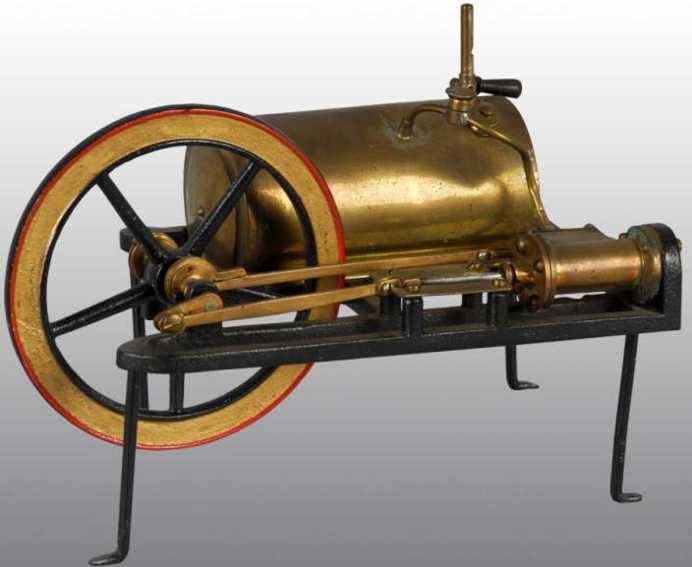 buckmann manufacturing company of brooklyn dampfspielzeug liegende dampfmaschine dampfmaschine, es handelt sich wohl um eine sehr frühe dampf