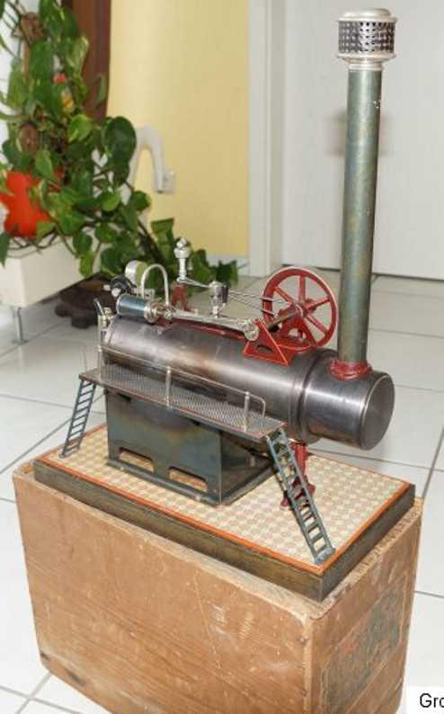 carette 105/7 dampfspielzeug liegende dampfmaschine dampfmaschine, kesseldurchmesser 7 cm
