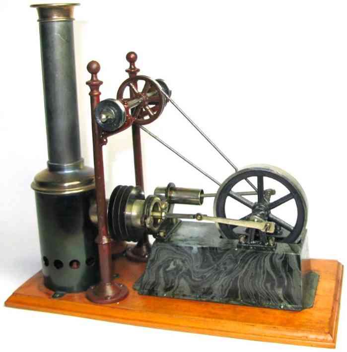 carette 143/3 dampfspielzeug  liegender heissluftmotor