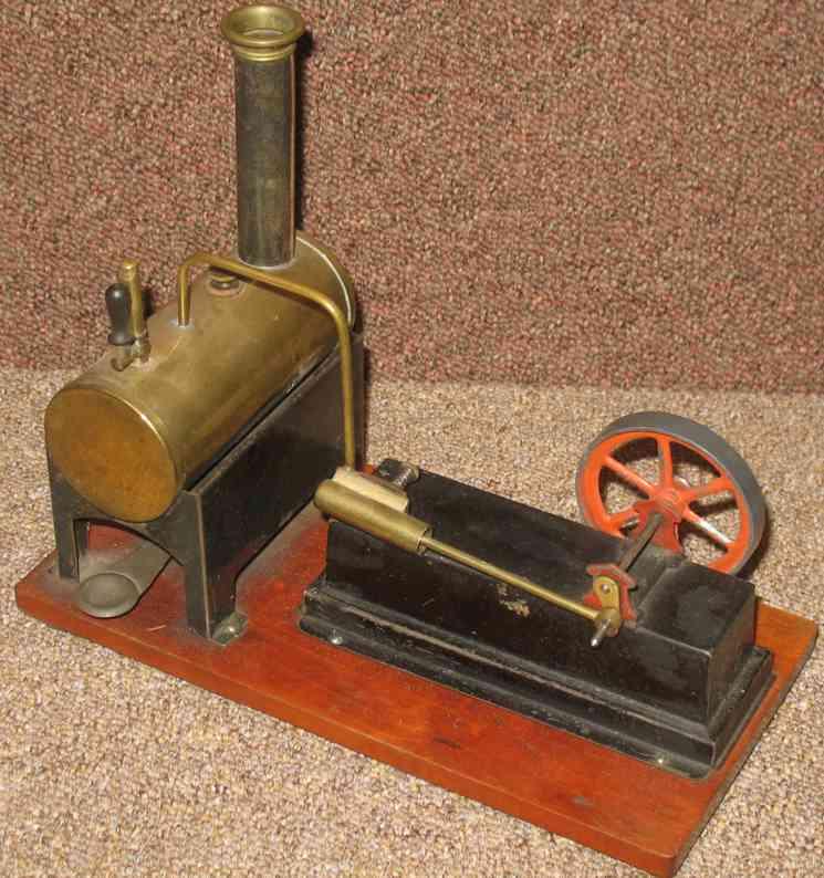 carette 147/2 dampfspielzeug liegende dampfmaschine