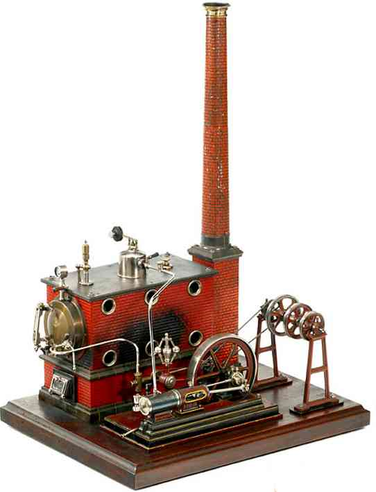 carette 296/6 dampfspielzeug liegende dampfmaschine liegende dampfmaschine mit festem doppelt wirkendem zylinder