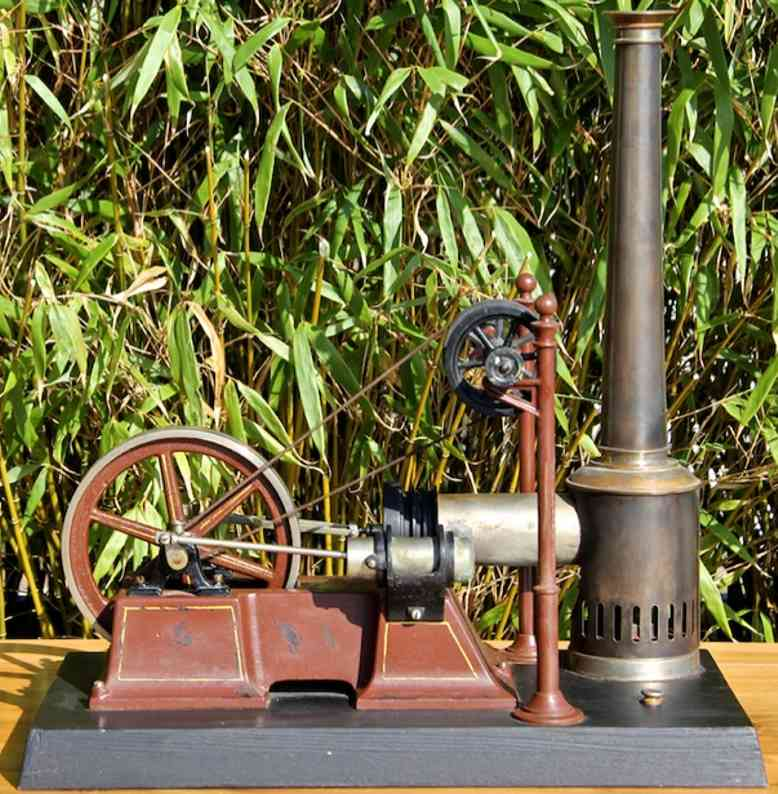 carette 687/3 steam toy hot air motor lying hot air engine; air cooled; work and displacement cyli