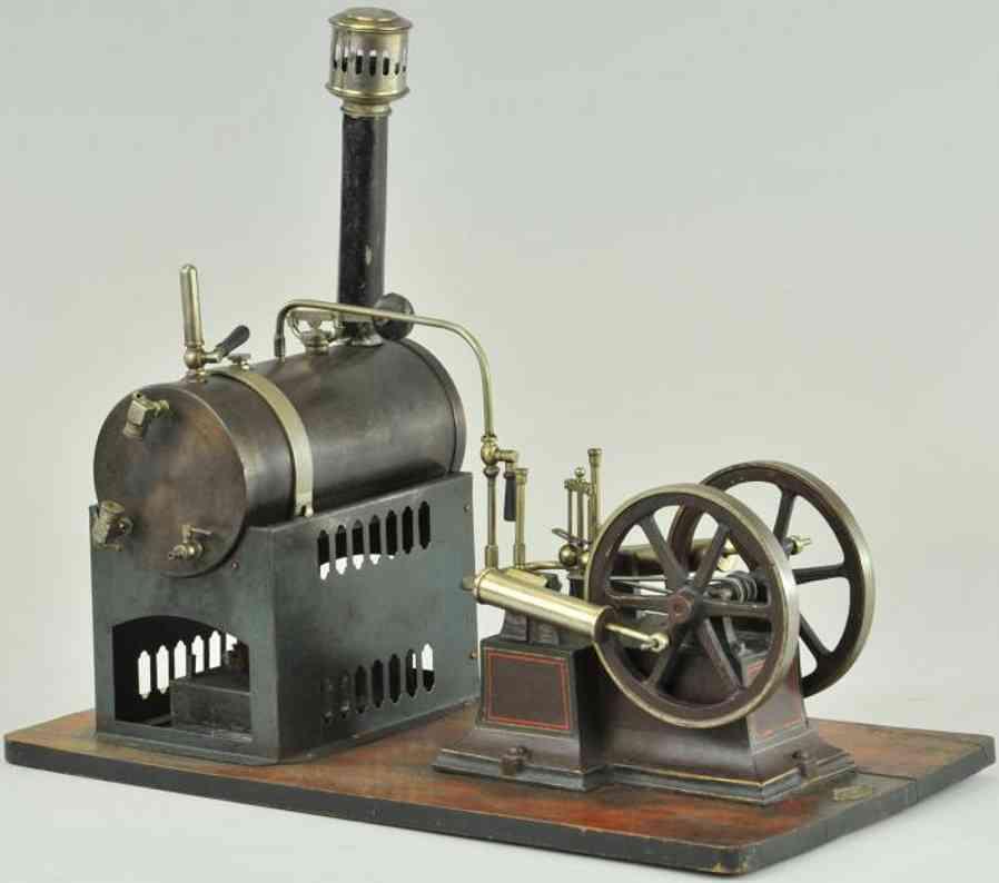 carette dampfspielzeug liegende dampfmaschine