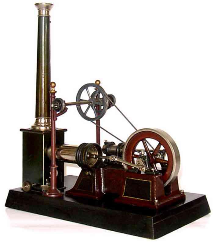 carette dampfspielzeug stehende heissluftmotoren heissluftmotor mit hochständertransmission. maschinenteil un