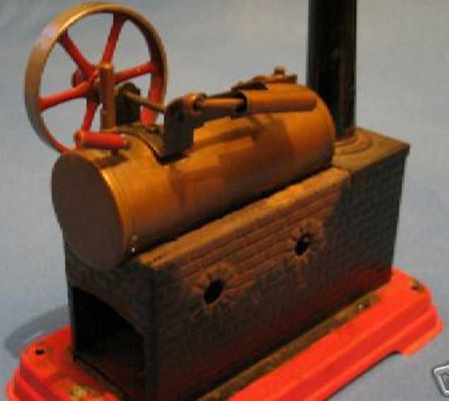 doll 308/3 dampfspielzeug liegende dampfmaschine
