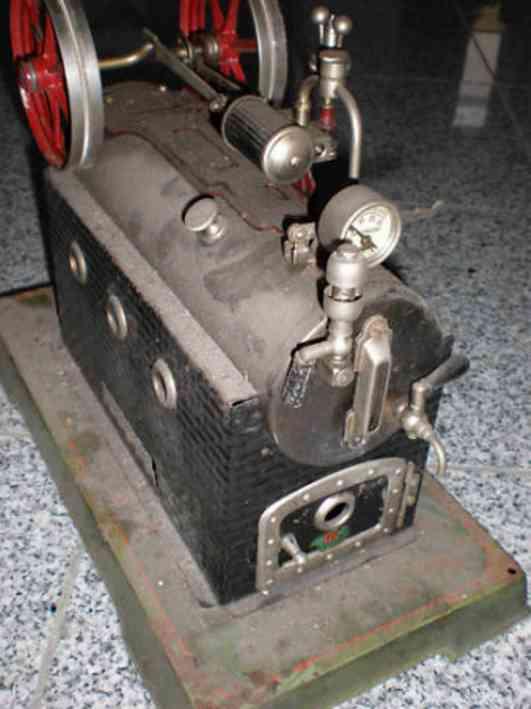 doll 317/4 dampfspielzeug liegende dampfmaschine