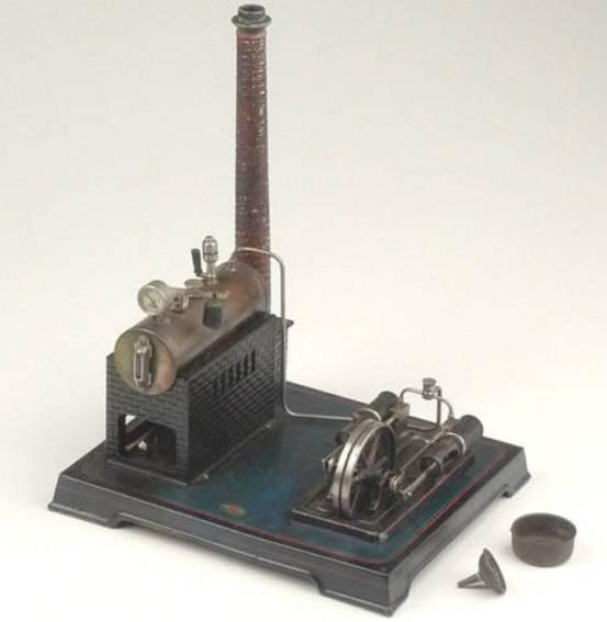 doll 332 dampfspielzeug liegende dampfmaschine zweizylinder manometer