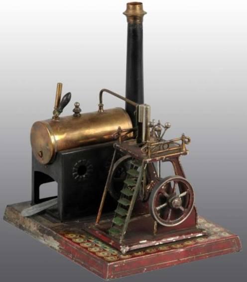 doll 335/1 dampfspielzeug liegende dampfmaschine