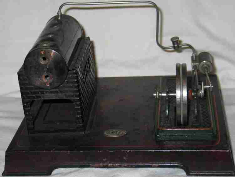 doll 337/3 dampfspielzeug liegende dampfmaschine