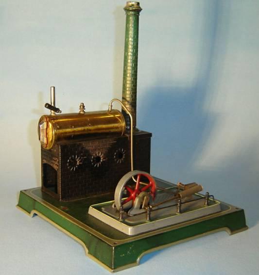 doll 343/3 dampfspielzeug liegende dampfmaschine