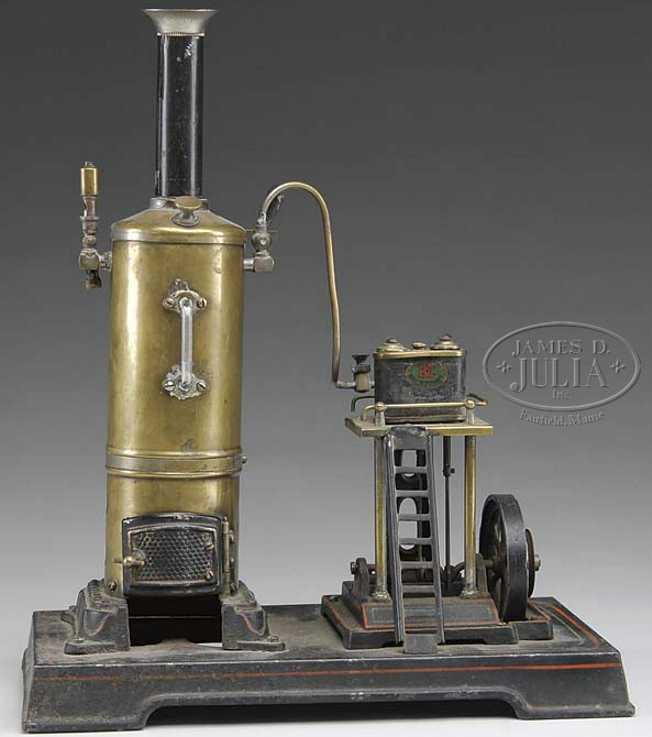 doll 352/2 dampfspielzeug stehende dampfmaschine vertikaldampfmaschine