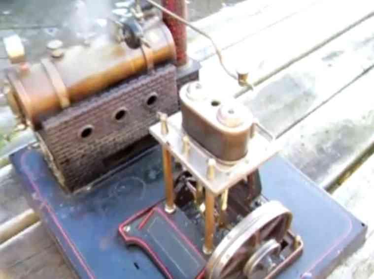 doll 360/3 dampfspielzeug liegende dampfmaschine