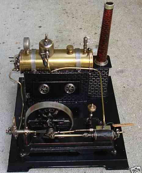doll 364/1 dampfspielzeug liegende dampfmaschine