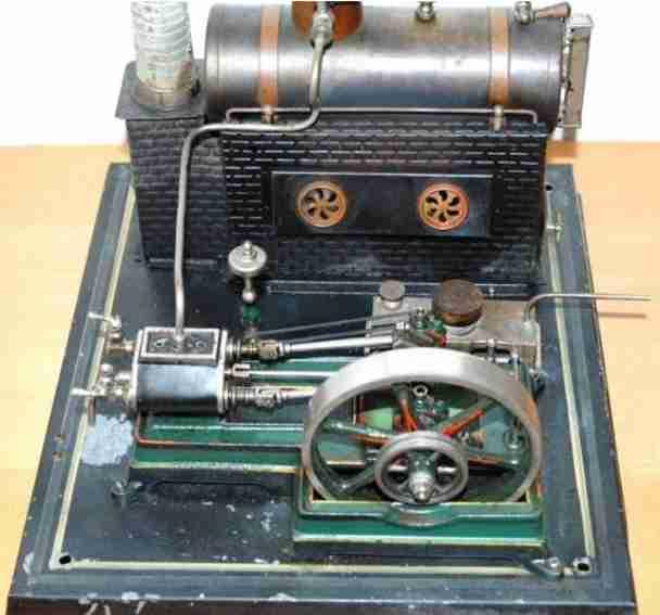 doll 365/1 dampfspielzeug liegende dampfmaschine