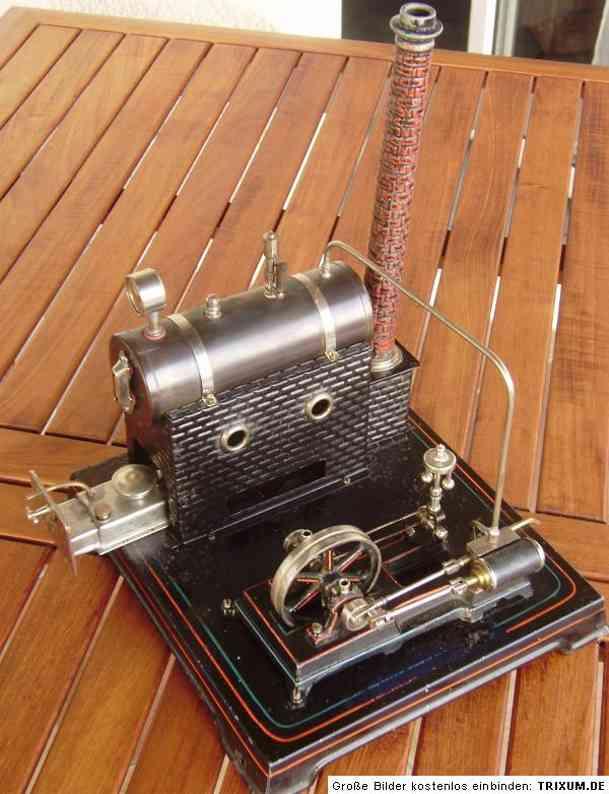 doll 368/1 dampfspielzeug liegende dampfmaschine