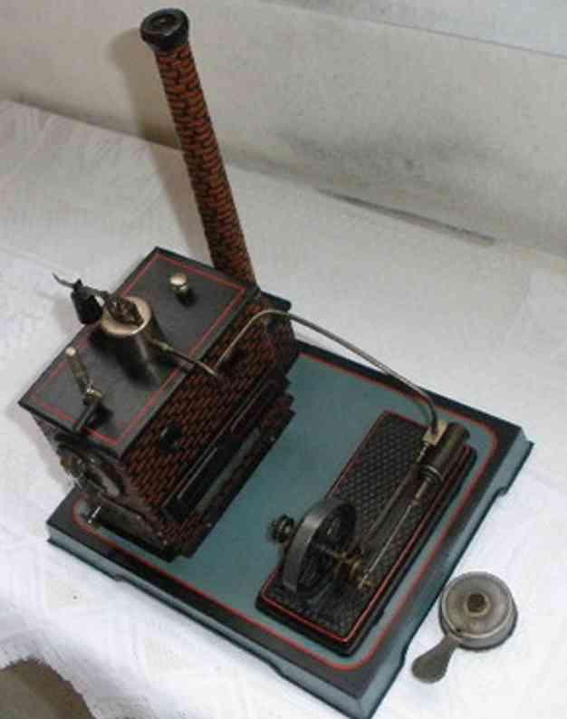 doll 387/3 dampfspielzeug liegende dampfmaschine