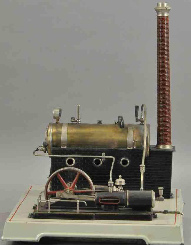 doll 392/3 dampfspielzeug liegende dampfmaschine