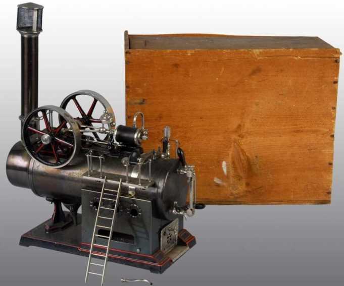 doll 510 dampfspielzeug liegende dampfmaschine