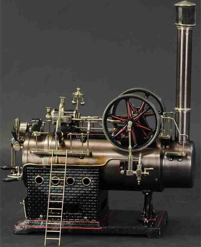 doll dampfspielzeug stationaere dampflokomobile soppelschwungrad