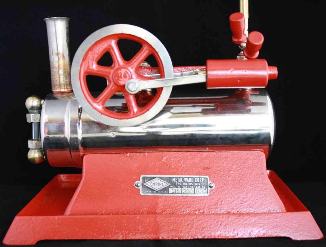 empire metalware b-30 spielzeug liegende dampfmaschine
