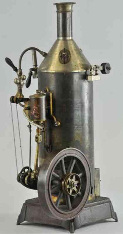 falk dampfspielzeug stehende dampfmaschine dampfmaschine, gußeisernes schwungrade, komplizierte verzahn