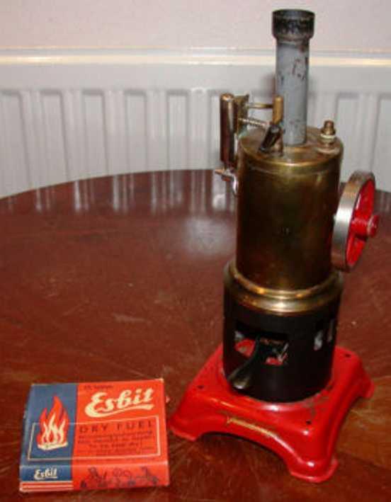 fleischmann 105/1 dampfspielzeug stehende dampfmaschine stehende dampfmaschine mit oszillierendem zylinder, messingk