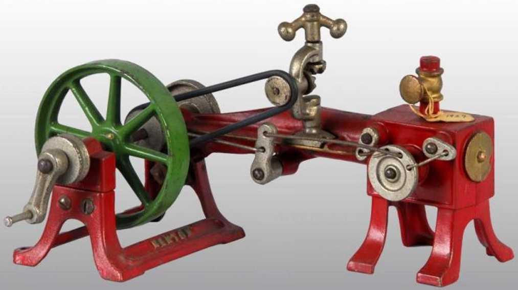 kenton hardware co toy cast iron horizontal steam engine