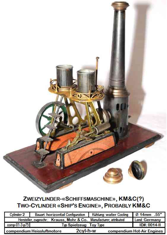 mohr & krauss 9729 toy horizontal water-cooled two-cylinder engine