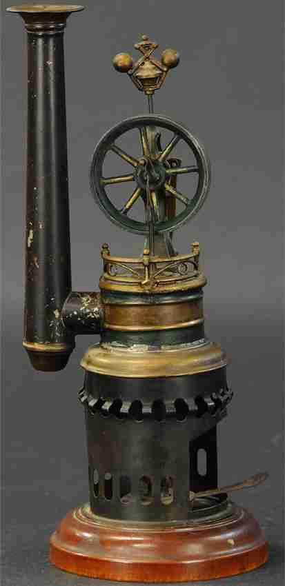 mohr & krauss dampfspielzeug stehende heissluftmotoren vertikale heissluftmaschine
