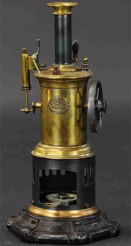 mohr & krauss dampfspielzeug stehende vertikale dampfmaschine