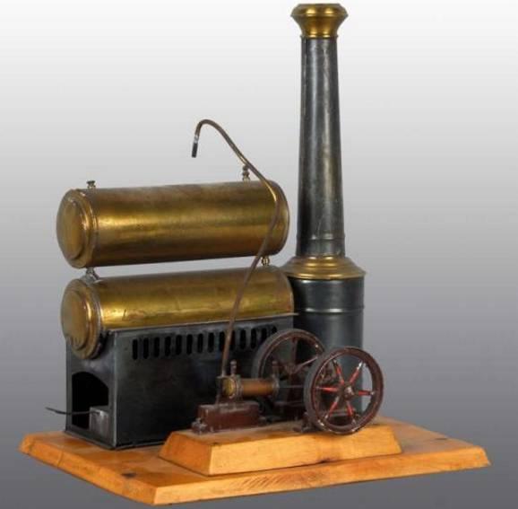 mohr & krauss dampfspielzeug liegende fass-dampfmaschine
