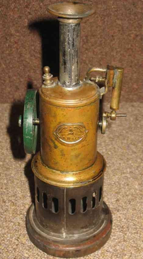 mohr & krauss toy simple vertical engine wooden base