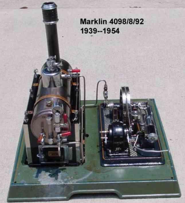 maerklin 4098/8/92 dampfspielzeug liegende dampfmaschine