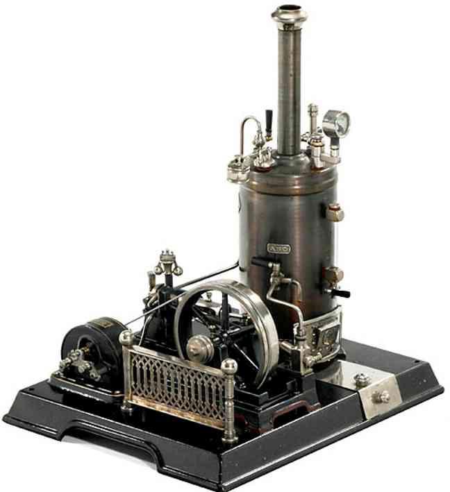 maerklin 4120/91 dampfspielzeug stehende dampfmaschine mit dynamo