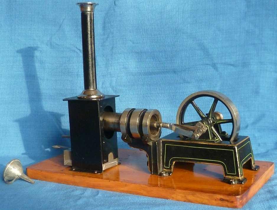 Märklin 4176/1 Liegender Heißluftmotor auf Holzplatte