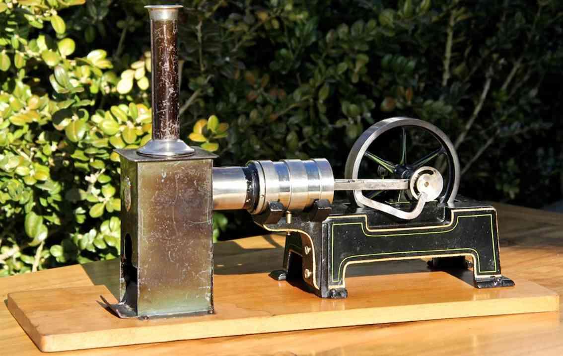 maerklin 4176/3 dampfspielzeug liegender heissluftmotor luftgekuehlt