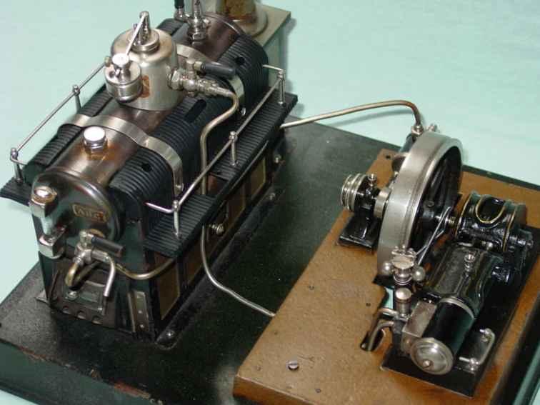 maerklin 5,5 dampfspielzeug liegende dampfmaschine