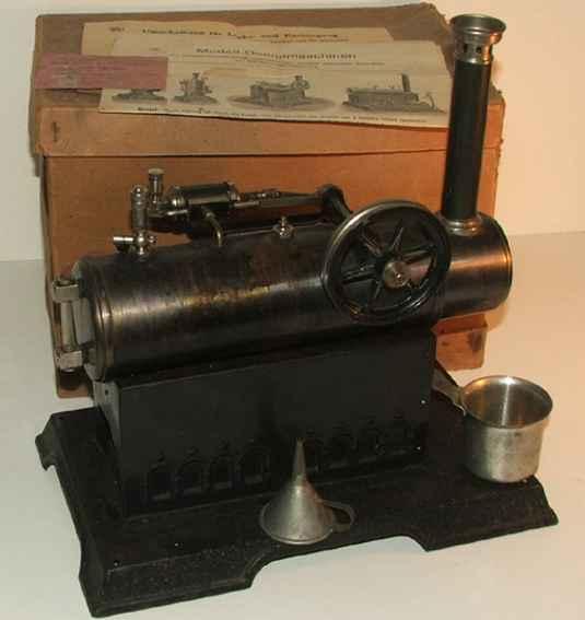 maerklin dampfspielzeug liegende lokomobil-dampfmaschine