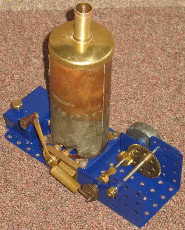 meccano dampfspielzeug stehende dampfmaschine