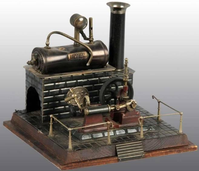 plank ernst 159/1 dampfspielzeug liegende dampfmaschine meteor
