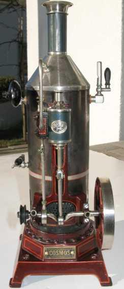 plank ernst 160/12 dampfspielzeug stehende dampfmaschine stehende dampfmaschine; stahlblau oxidierter und vernickelte