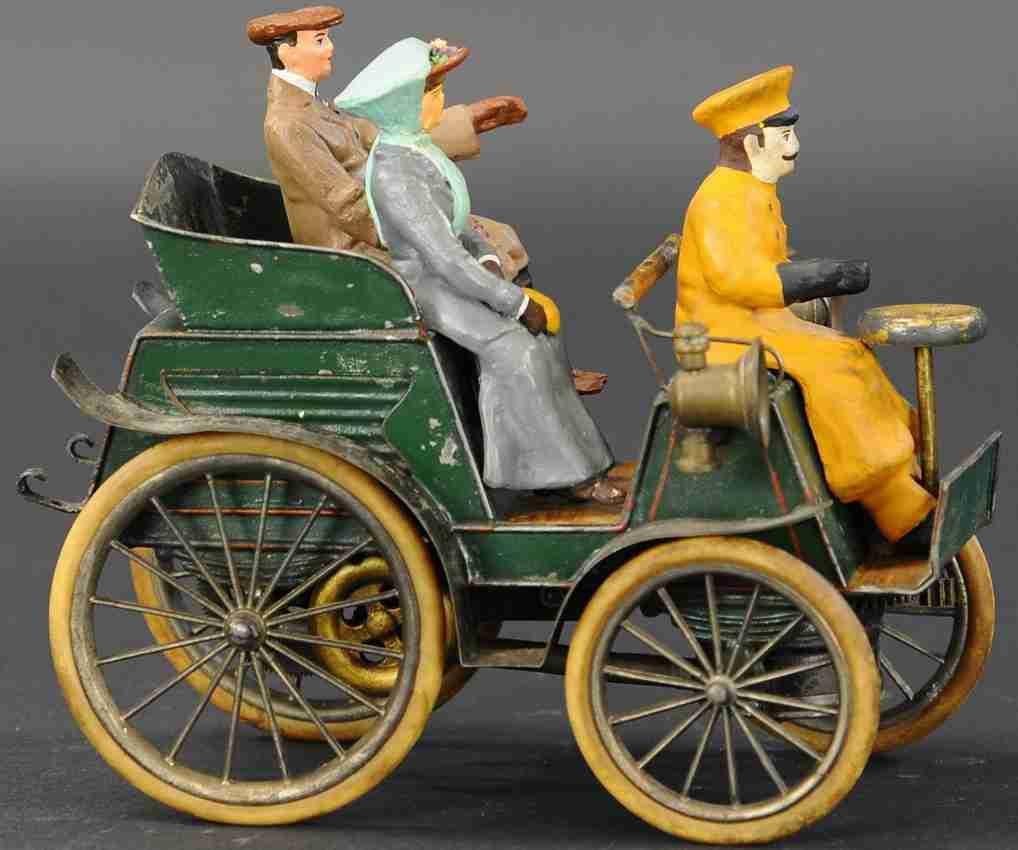 plank ernst dampfspielzeug fahrzeug echtdampfauto mit drei figuren